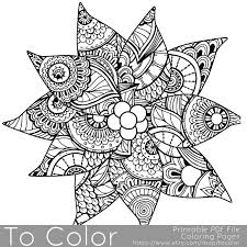 Christmas Coloring Page for Adults Poinsettia Coloring Page
