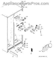 ge wr17x10734 water tank tube asm appliancepartspros com part diagram