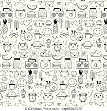 Pattern With Line Hand Drawn Doodle Lovely Vector Background For Kid Doodle Funny Handmade Vector Illustration