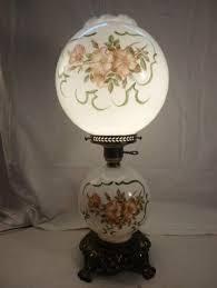 lighting globes glass. Antique Lamps Rose Print Globe Oil Lamp Hurricane Pink Lighting Globes Glass