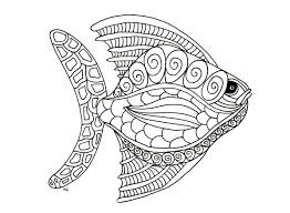 Free Coloring Page Coloring Fish Zentangle