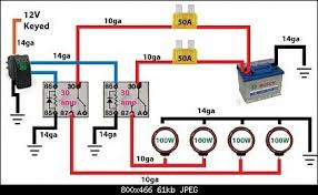 off road light wiring diagram automotive electronics 4 Pin Relay Wiring Diagram Fog Light off road light wiring diagram automotive electronics pinterest jeeps, lights and 4x4 Fog Light Relay Kit
