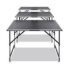 VidaXL <b>Pasting Table 3</b> pcs Foldable Height Adjustable Portable ...