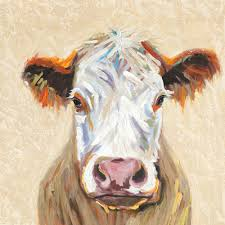 hereford cow canvas wall art