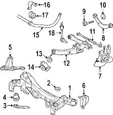 parts com® scion tc rear suspension oem parts 2006 scion tc base l4 2 4 liter gas rear suspension