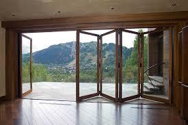 image of large folding glass doors