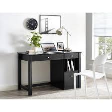 deluxe wooden home office. Walker Edison Furniture Company Home Office Deluxe Black Wood Computer Stand Da340885 4e45 4110 88d0 Wooden R