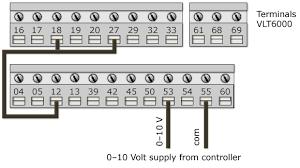 parameter settings for 6000 hvac 0 10v signal from controller wiring diagram for vlt6000 0 10v signal