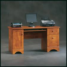sauder brushed maple computer desk