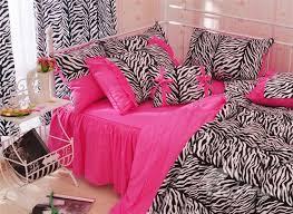 47 zebra stripe pattern cotton full size 4 piece pink duvet covers bedding sets