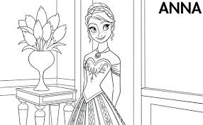 Disney Princess Coloring Pages Frozen Anna Elsa Colouring Little In
