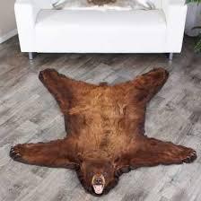 5 foot 1 inch 155cm brown bear rug 0201659