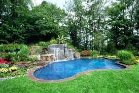 inground pool waterfalls. Inground Pool Waterfalls Backyard Natural Lagoon And Waterfall Designs Installation New Jersey Rock . G