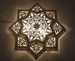 moroccan flush mount star ceiling light