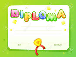 Children Certificate Template Cartoon Kids Certificate Diploma Template Children Achievement