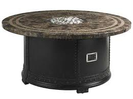 tommy bahama outdoor kingstown sedona cast aluminum 54 round gas fire pit