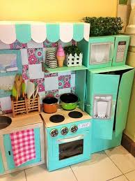 Decorating Cardboard Boxes DIY Cardboard Play Kitchen For Kids POPSUGAR Moms Photo 100 50