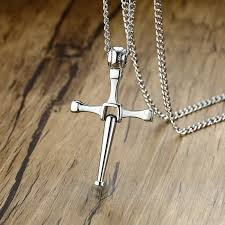men baseball bat cross pendant necklace stainless steel toretto letty s design crucifixion man disco ball softball player jewels