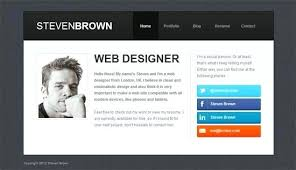 Personal Website Templates Stunning Sample Personal Website Templates Free Download Personal Resume