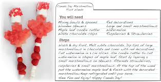 christy s gourmet gifts canada day marshmallow fruit wands recipe card