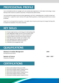 Professional Resume Template Doc Download