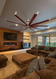Isis Ceiling Fan Contemporary Living Room Salt Lake City by