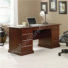 classic office desk. picture of sauder heritage hill outlet doublepedestal desk classic office
