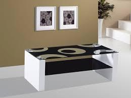 rome white high gloss black glass coffee table