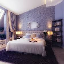 Chrom Nachttische Dunkel Lila Schlafzimmer Aus Weißem Holz