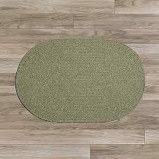 colonial mills bristol wool blend country home braided rug palm green wl10