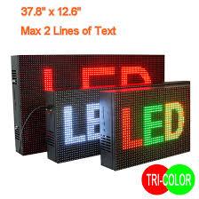 Tri Color Led Display Sign Led Display Panels Indoor