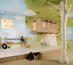 17 a tree house themed kid s room where the bed is inside the tree house