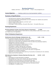 Cna Resume Objective Statement Examples Entry Level Administrative