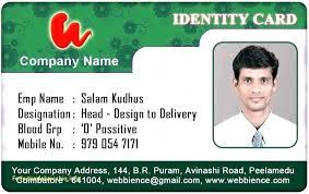 Employee Identity Card Template Gotostudy Info