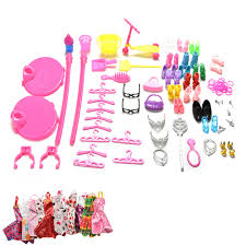 1set mini mirror hanger comb shoes bag furniture dress for barbies dolls accessories toys child funny accessories furniture funny