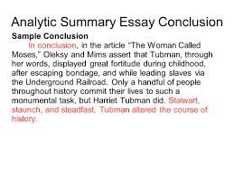 writing portfolio mr butner writing portfolio due date  analytic summary essay conclusion sample conclusion in conclusion in the article the w called moses