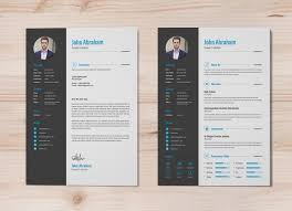 Free Modern And Simple Resume Cv Psd Template Resume Free Professional Resumemplate Cover Design In Indd