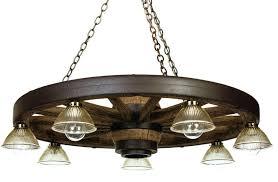 42 downlight reion cast wagon wheel chandelier