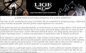 LIGE Men's Watches Fashion Luxury Business ... - Amazon.com