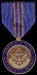 the united states of america department of the navy meritorious civilian service award