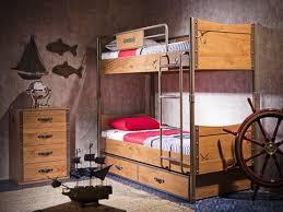 Детская <b>двухъярусная кровать Cilek</b> Black <b>Pirate</b> купить недорого