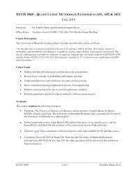 ECON 2040 – Q UANTITATIVE METHODS IN ECONOMICS (A01, A02 & A03)