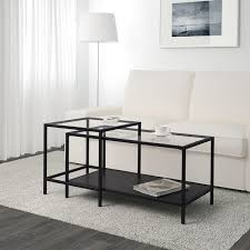 With different styles to match your seating and furniture, our coffee tables keep everything you like to have close by. Vittsjo Nesting Tables Set Of 2 Black Brown Glass 35 3 8x19 5 8 Ikea
