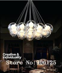bubble lighting fixtures sandraortiz co within light chandelier plan 4