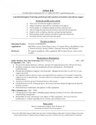 It Help Desk Resume Examplesting Tips With Building For Free