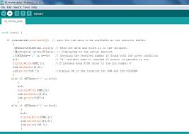 screenshot of loop function in arduino code for home automation system