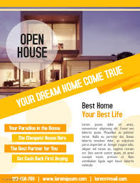 business open house flyer template open house property flyer real estate business poster