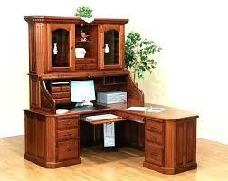 Corner office desk with hutch Pretty Corner Small Corner Desk With Hutch Black Shaped Office Computer Csrlalumniorg Corner Office Desk Hutch Small With Ikea Hut Gonimotitainfo