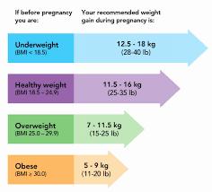 Pregnancy Weight Gain Chart Overweight Unique Pregnancy Weigh Gain Chart Baby Weight Chart Twins