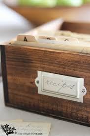 diy recipe box the wood grain cottage